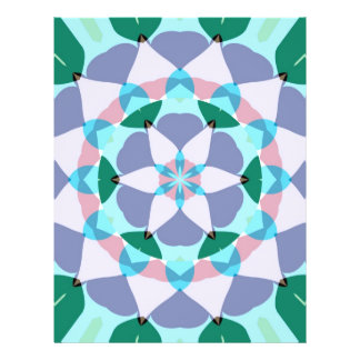 lotus flower mandala flyer design