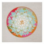 Lotus Flower Mandala Poster