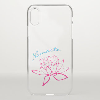 Lotus Flower Namaste Yoga Clear iPhoneX Case