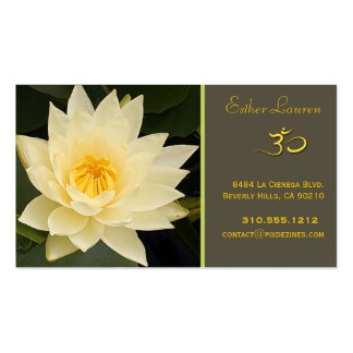 Lotus flower, Om yoga, healers Pack Of Standard Business Cards