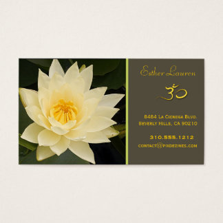 Lotus flower, Om yoga, healers Business Card
