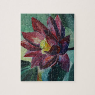 Lotus Flower Painting  Photo Puzzle with Gift Box