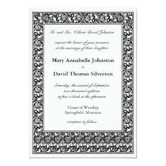 Lotus Flower Parents of the Bride 13 Cm X 18 Cm Invitation Card