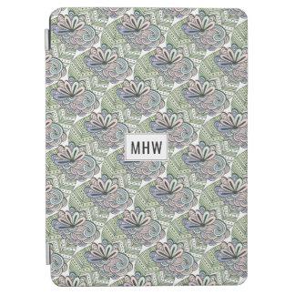Lotus Flower Pattern custom monogram device covers iPad Air Cover