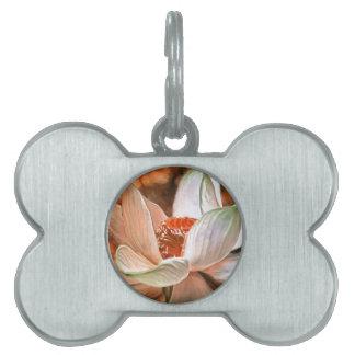 Lotus flower pet name tags