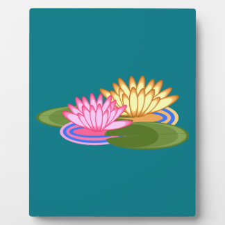 Lotus flower plaque
