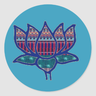 Lotus Flower Pure Spiritual Yoga Meditation Classic Round Sticker