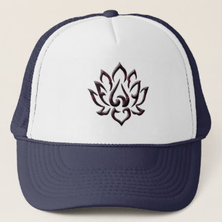 lotus flower purple universe trucker hat