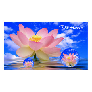 Lotus Flower Reflections & Bubbles of Peace Double-Sided Standard Business Cards (Pack Of 100)