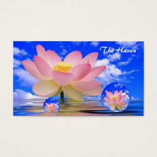 Lotus Flower Reflections & Bubbles of Peace Business Card