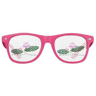 Lotus flower retro sunglasses