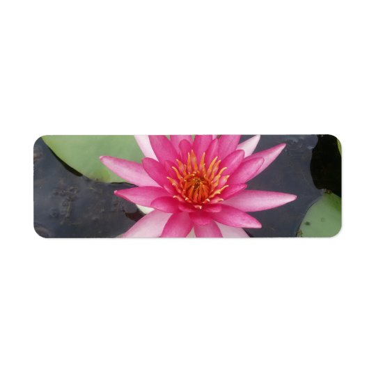 Lotus Flower Return Address Label