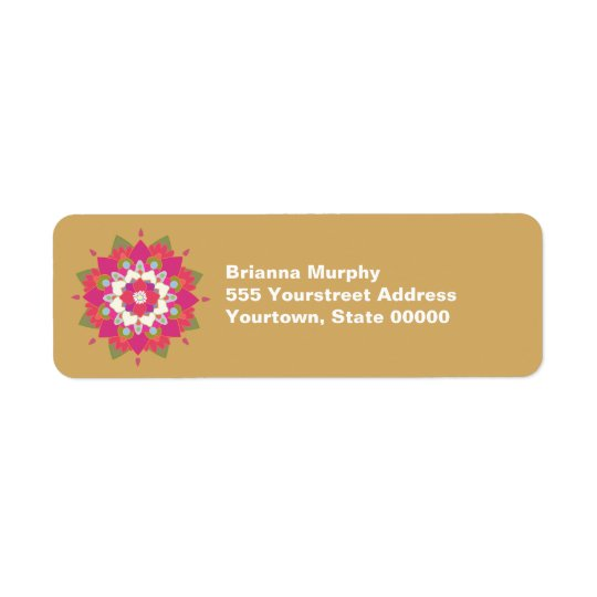 Lotus Flower Return Address Labels