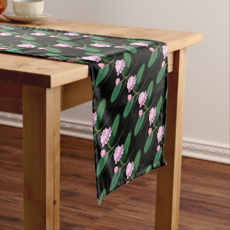 Lotus flower short table runner