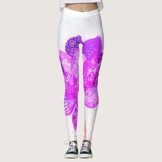 Lotus Flower w/filter Leggings