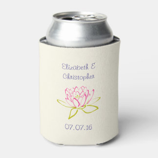 Lotus Flower / Water Lily Wedding Favor Can Cooler