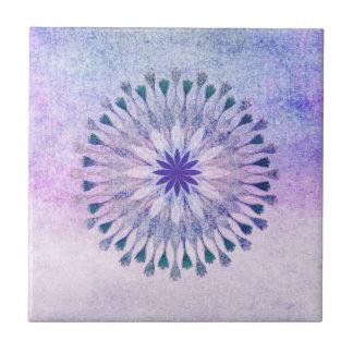 Lotus Flower Watercolor Floral Art Healing Yoga Ceramic Tile