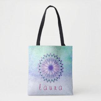 Lotus Flower Watercolor Wedding Bride Tote Bag