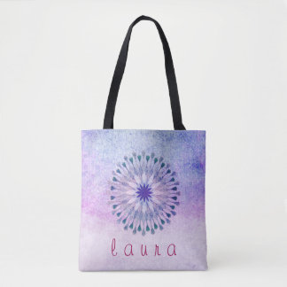 Lotus Flower Watercolor Wedding Bride Tote Bag
