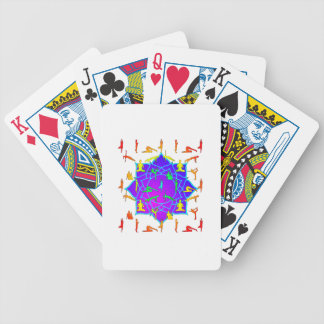 Lotus Flower With Yoga Positions Bicycle Playing Cards