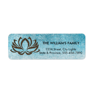 Lotus Flower Yoga Beach Meditation Holistic Return Address Label