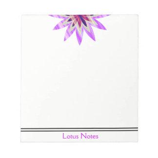 Lotus Flower Yoga Instructor Holistic Classic Notepad