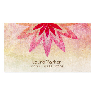 Lotus Flower Yoga Instructor Meditation Holistic Pack Of Standard Business Cards