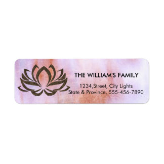 Lotus Flower Yoga Instructor Meditation Holistic Return Address Label