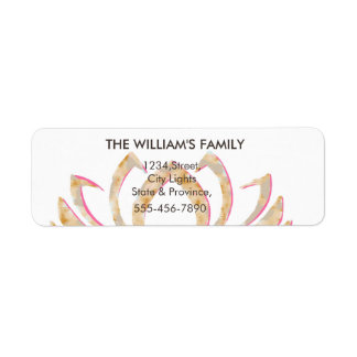Lotus Flower Yoga Meditation Floral Holistic Return Address Label