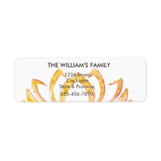 Lotus Flower Yoga Meditation Massage Fitness Return Address Label
