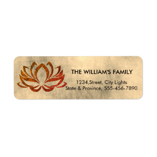 Lotus Flower Yoga Vintage Meditation Holistic Return Address Label