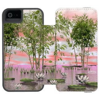 Lotus flowers and bamboos - 3D render Incipio Watson™ iPhone 5 Wallet Case
