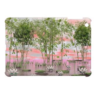 Lotus flowers and bamboos - 3D render iPad Mini Cover