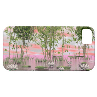 Lotus flowers and bamboos - 3D render iPhone 5 Case