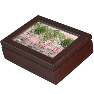 Lotus flowers and bamboos - 3D render Keepsake Box
