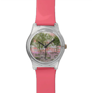 Lotus flowers and bamboos - 3D render Watch