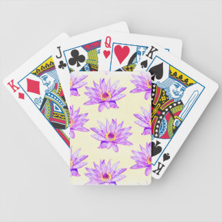 lotus flowers cream inky bicycle playing cards