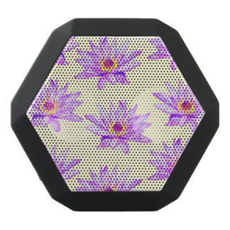 lotus flowers cream inky black bluetooth speaker