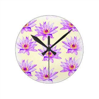 lotus flowers cream inky clocks