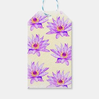 lotus flowers cream inky gift tags