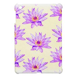 lotus flowers cream inky iPad mini covers