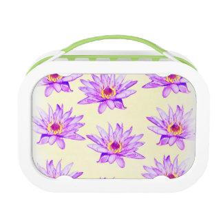 lotus flowers cream inky lunch box