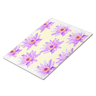 lotus flowers cream inky notepad