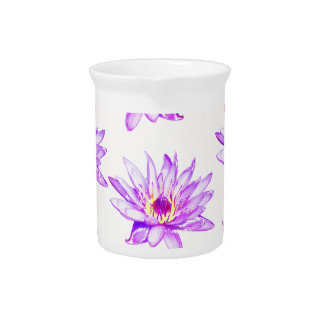 lotus flowers cream inky pitcher
