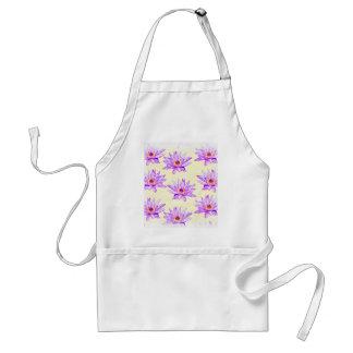lotus flowers cream inky standard apron