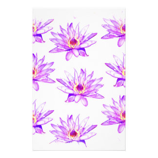lotus flowers cream inky stationery