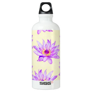 lotus flowers cream inky water bottle