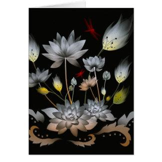 Lotus Flowers Greeting Card