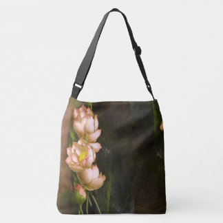 Lotus Flowers Heade All Over Print Tote Bag