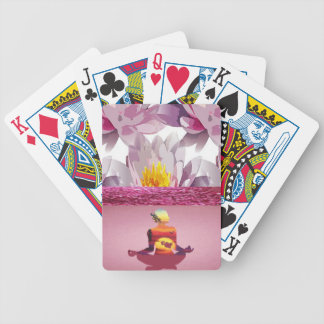 Lotus Flowers Meditation Lady Bicycle Playing Cards